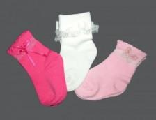 Бебешки луксозни чорапи - 3 чифта
